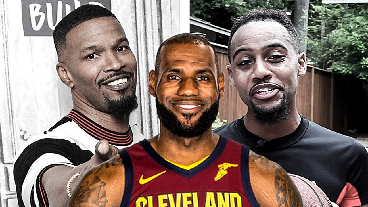 947b708b5e44 Jamie Foxx Gives His Best LeBron James Impersonation   BdotAdot5 Shows Him  How It s Done
