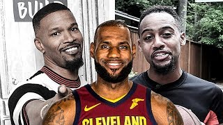 Jamie Foxx Gives His Best LeBron James Impersonation & BdotAdot5 Shows Him How It's Done
