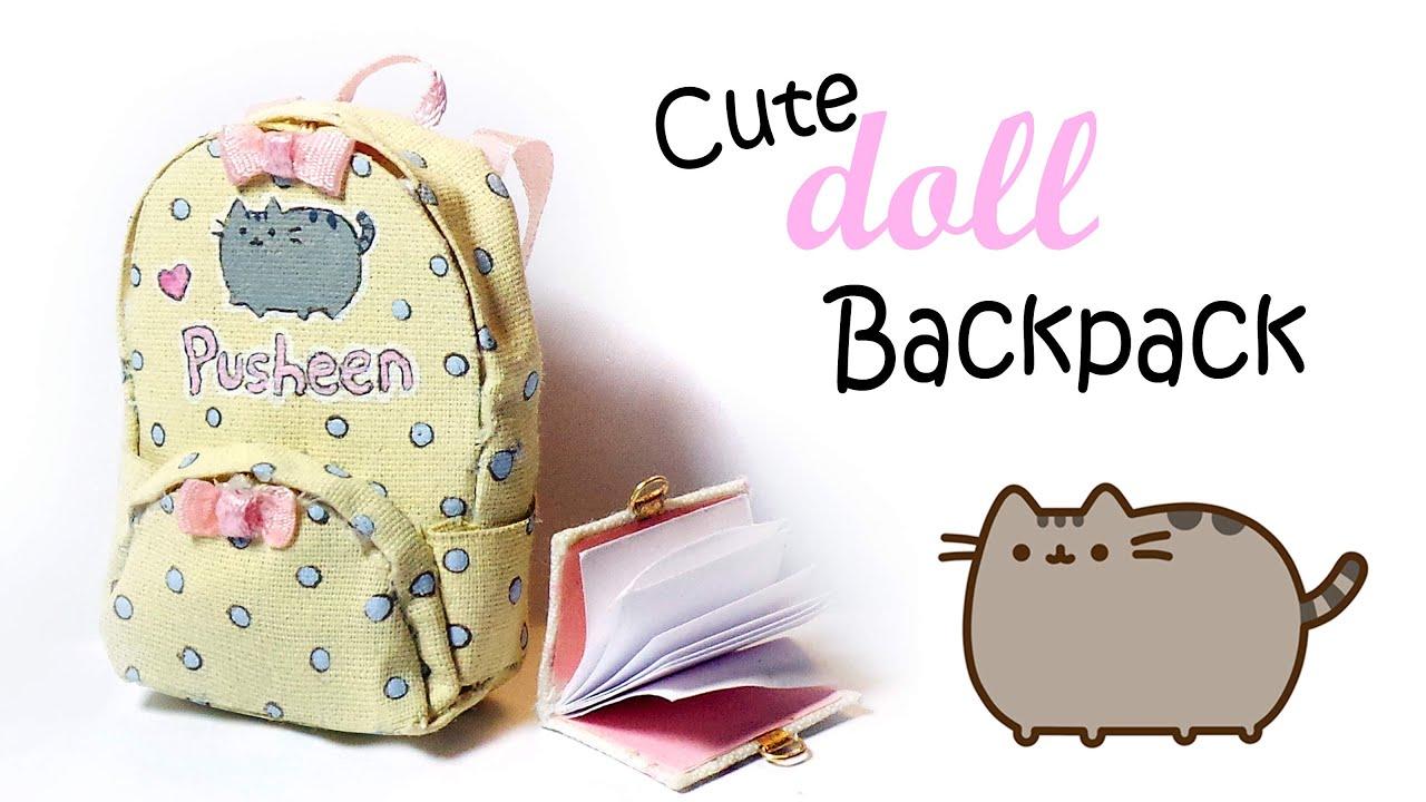Cute Doll Backpack Tutorial (Pusheen Inspired)