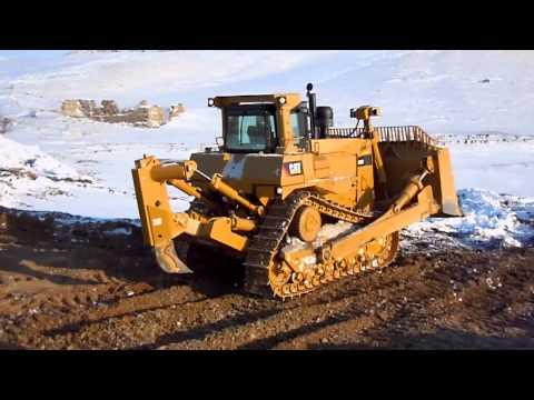 Рыхление бульдозер CAT D9R