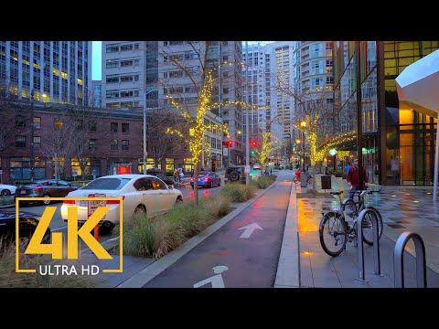 Seattle Streets Walking Tour - 4K City Walk Video - Short Preview