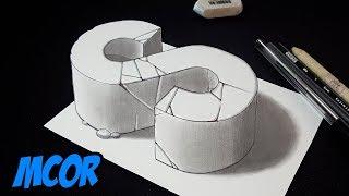 Como Dibujar la Letra S en 3D - Arte Truco en 3D