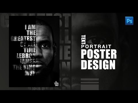 How to Create Text Portrait Poster in Photoshop