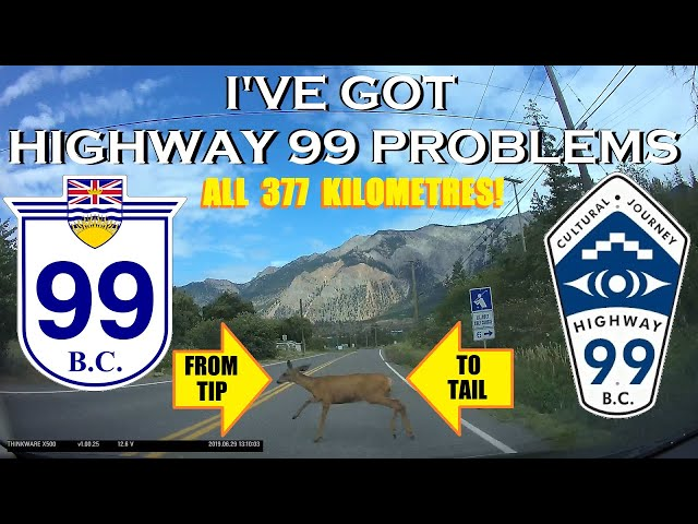 Time Lapse - BC Highway 99, the Entire Route northbound (incl. Sea to Sky Highway!)