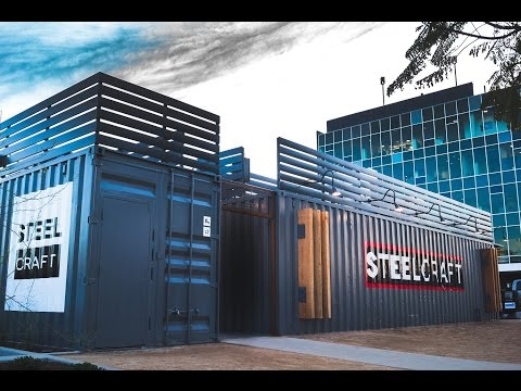 IPME Supplies Steelcraft Modified Shipping Containers for Container Mall Long Beach, CA