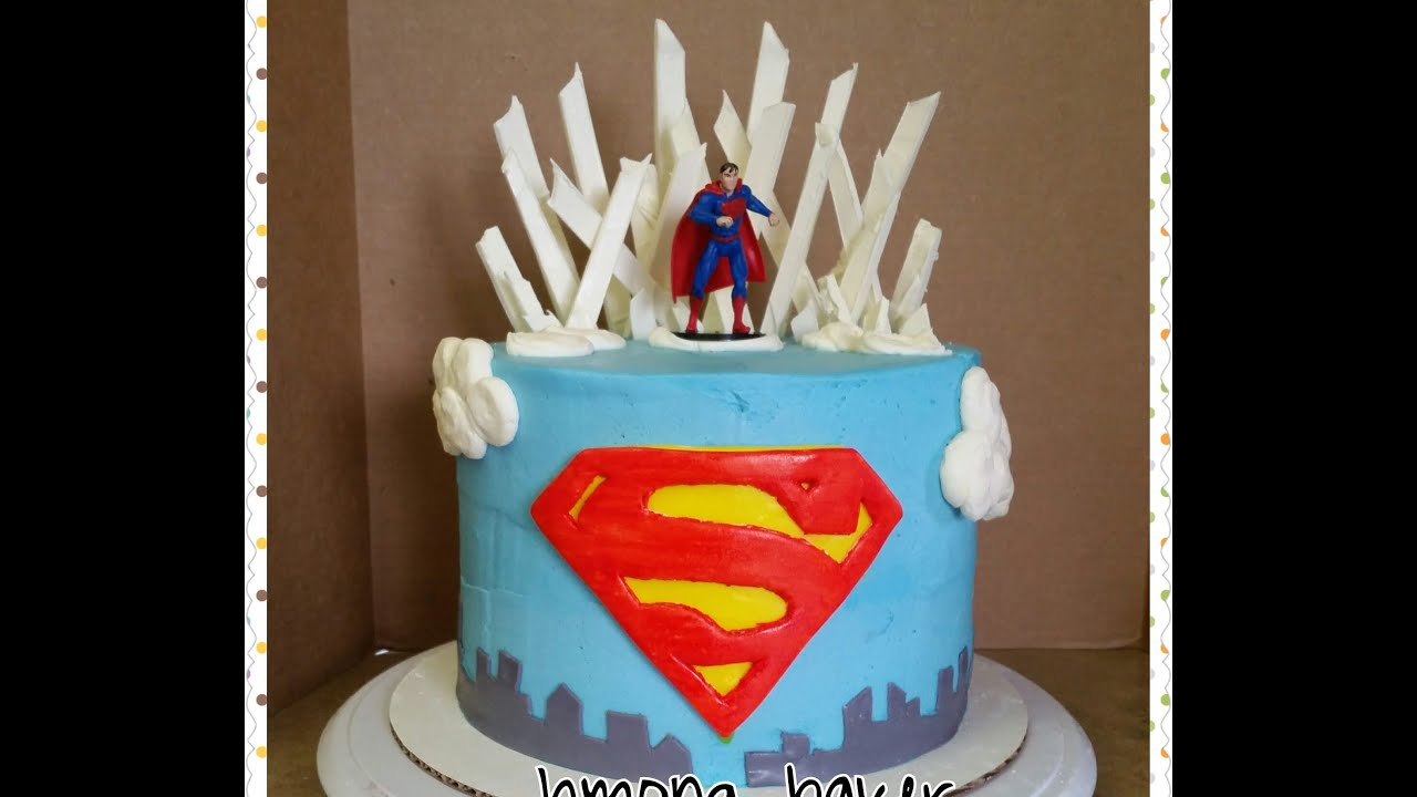 Superman Cake Birthday Cake Decorating Youtube