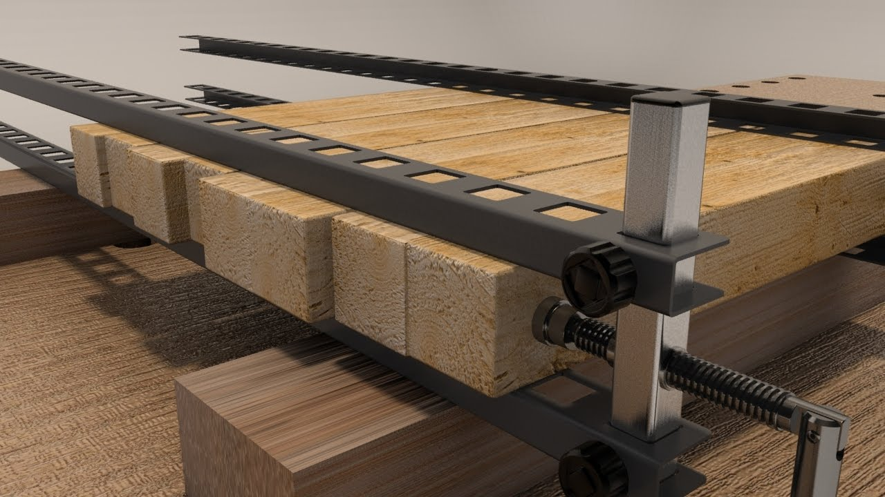 how to glue up with damstom clamp