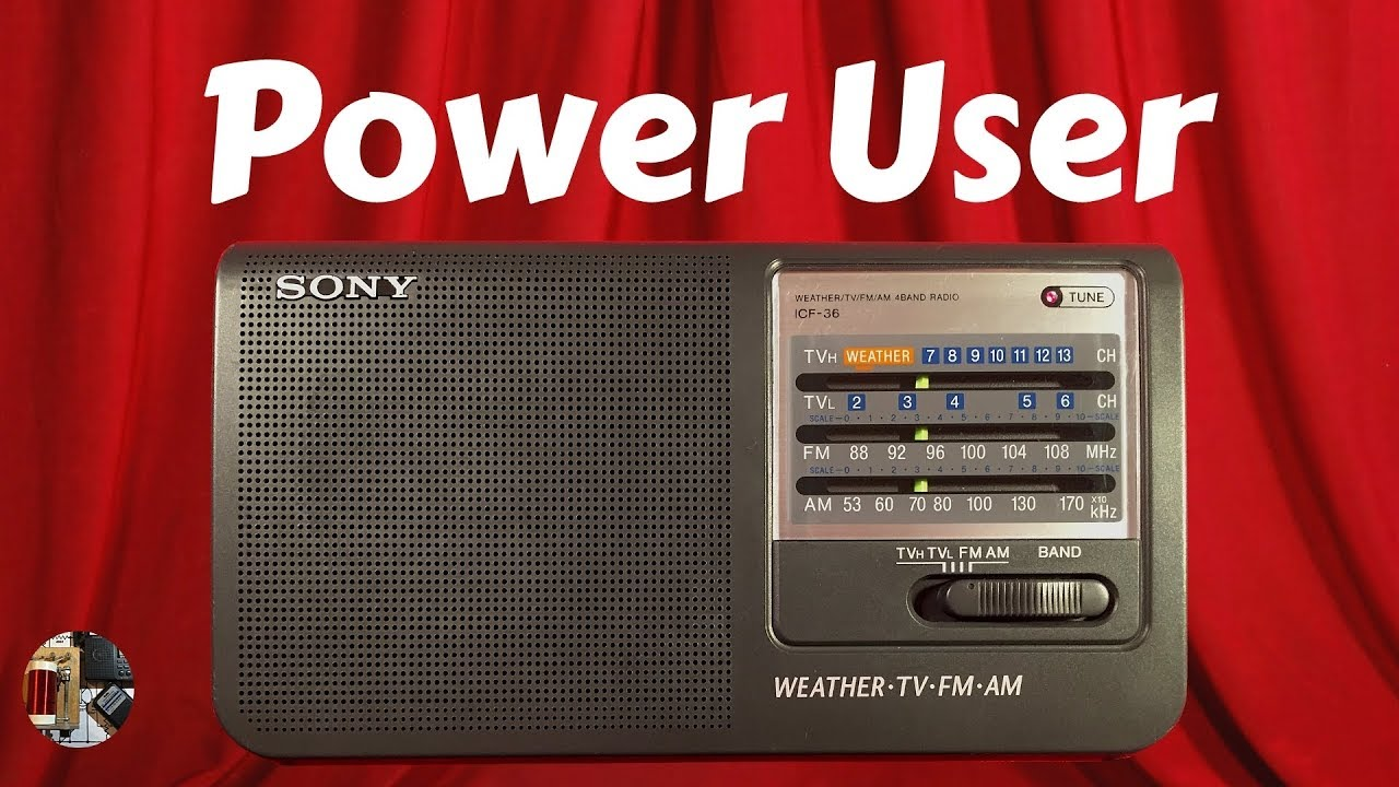 Sony ICF-36 AM FM TV WX Band Radio Review