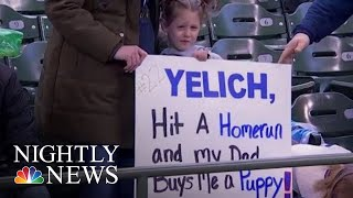 Baseball Superstar's Home Run Earns Young Fans A Puppy | NBC Nightly News