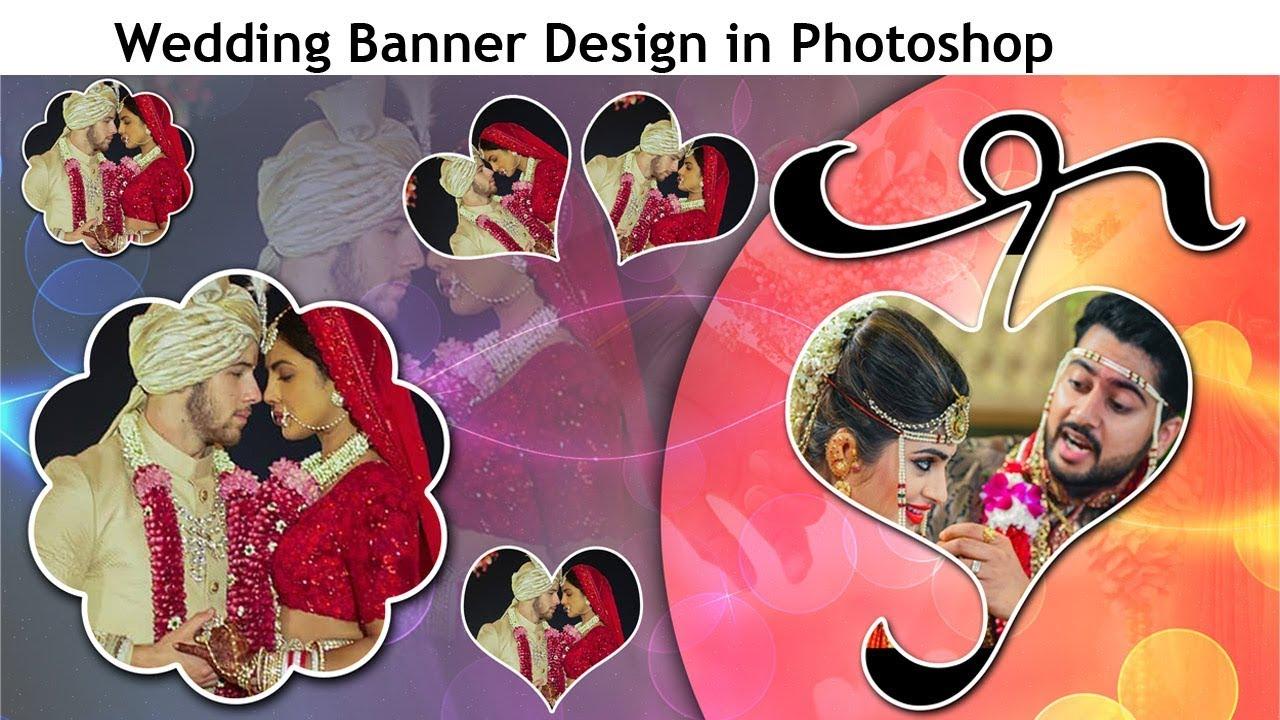 Wedding Flex Banner Design in Photoshop ||| How to make wedding banner design in Photoshop