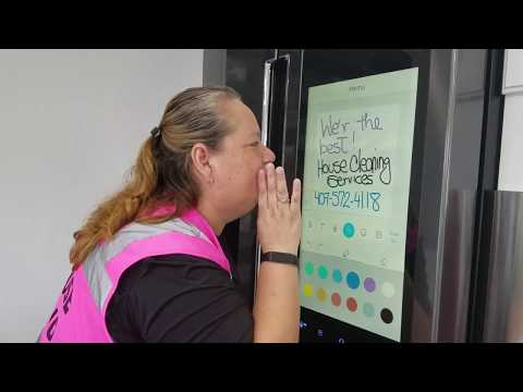 Cleaning The New Samsung Black Stainless Steel  Refrigerator With Family Hub 2.0