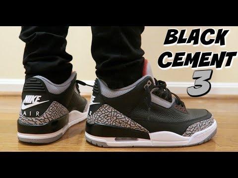 "(QUALITY TRASH ??) 2018 JORDAN 3 ""BLACK CEMENT"" NIKE AIR REVIEW & ON FEET"