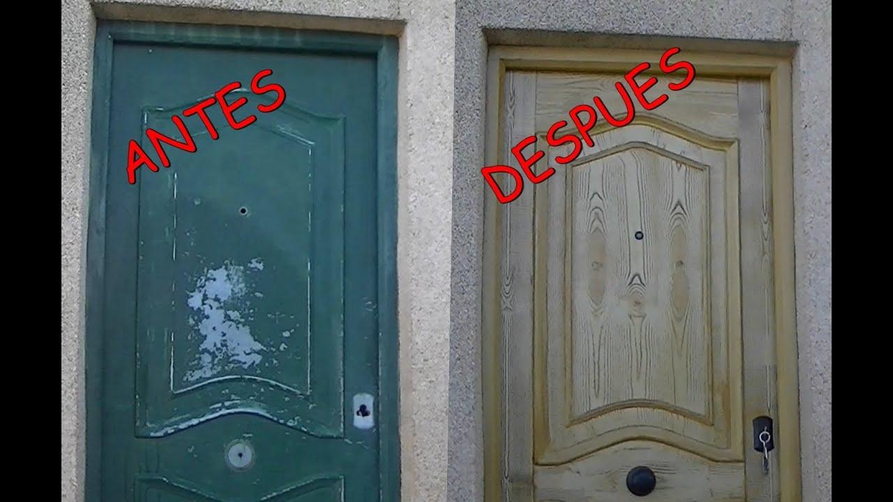 Como pintar metal para que parezca madera paso a paso for Como pintar puertas de sapeli