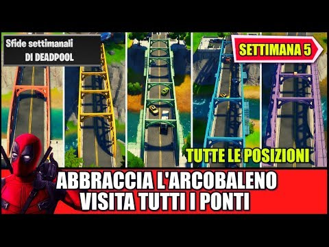 VISITA I PONTI D'ACCIAIO ROSSO, GIALLO, VERDE, BLU E VIOLA