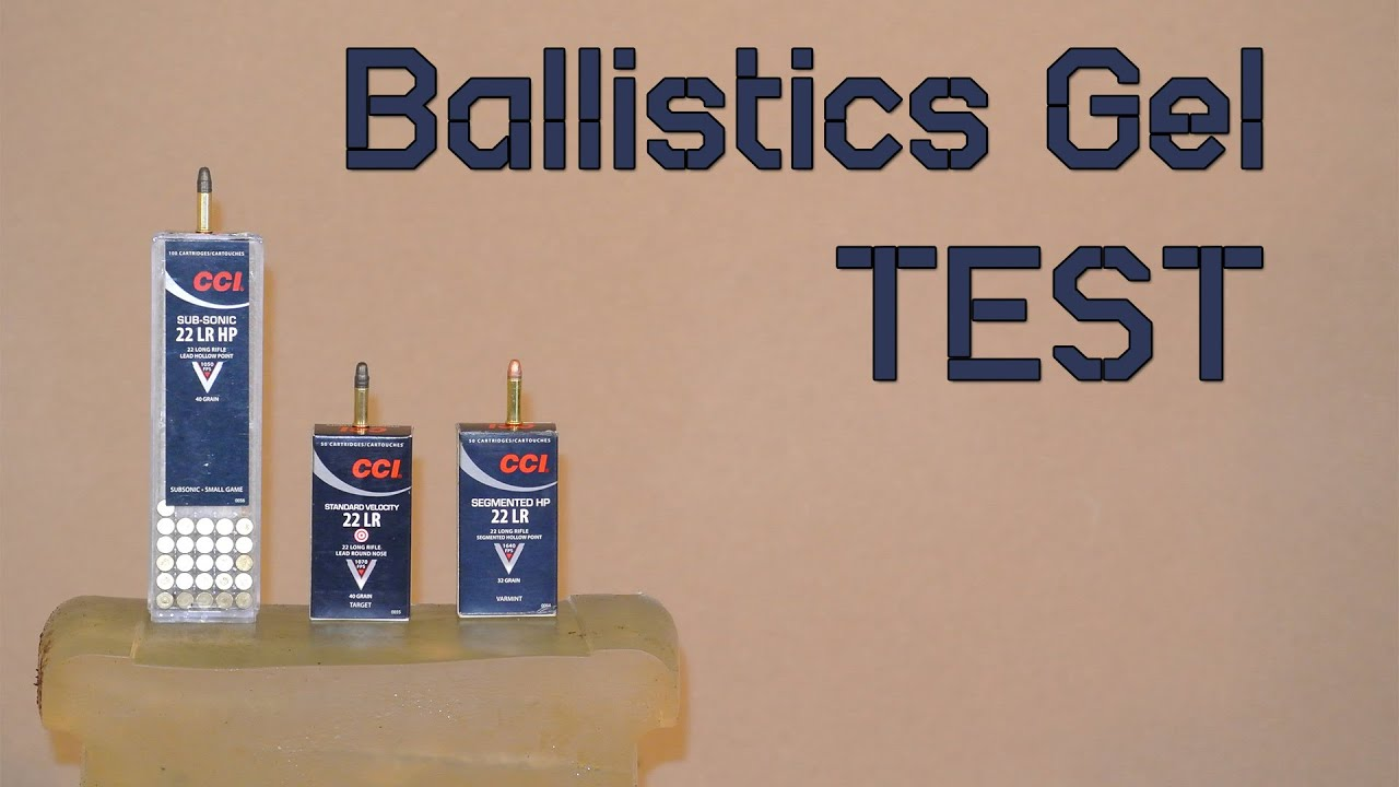 cci subs standard and segmented ballistics gel test youtube. Black Bedroom Furniture Sets. Home Design Ideas
