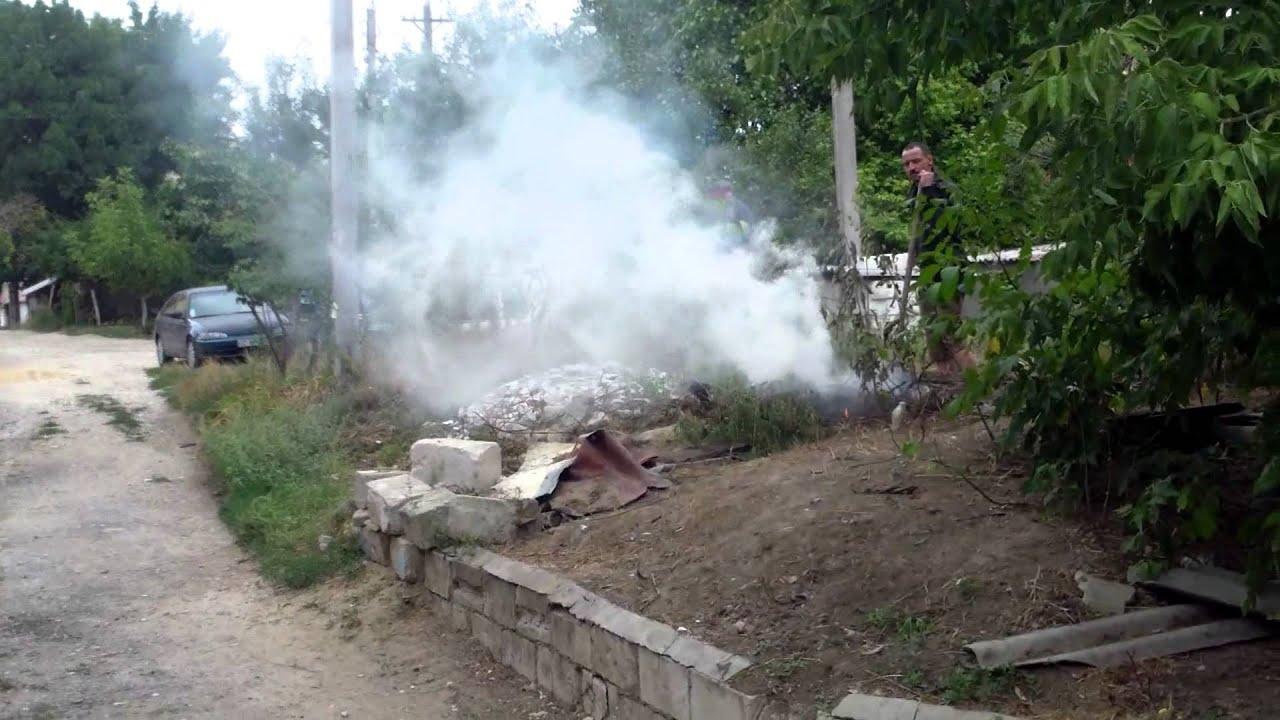 Au dat foc la frunze uscate și au umplut cartierul de fum