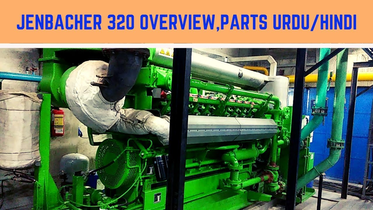 Gas Engine Jenbacher 320 Detailed over view parts Urdu / Hindi