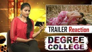 Degree College Movie Trailer Reaction | Latest Telugu Movie Trailers 2019 | Varun | Divya Rao