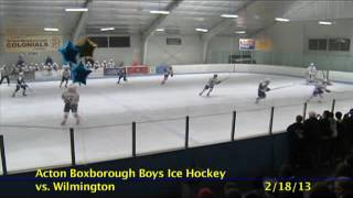 Acton Boxborough Varsity Boys Hockey vs Wilmington 2/18/13