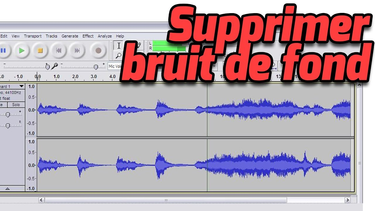 Supprimer Le Bruit De Fond D Un Enregistrement Audio Youtube