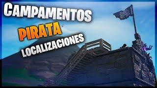VISITA TODOS LOS CAMPAMENTOS PIRATAS GUÍA | SEMANA 1| FORTNITE BATTLE ROYALE