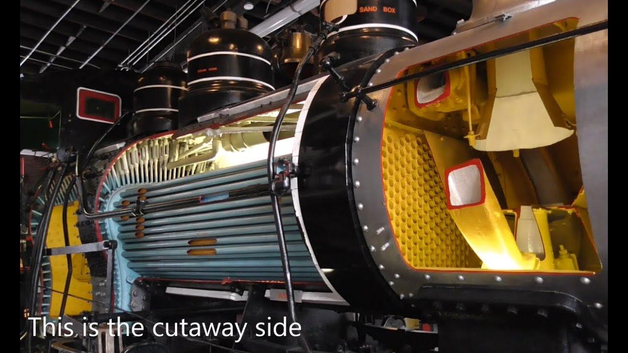 cutaway steam locomotive   locomotive works youtube