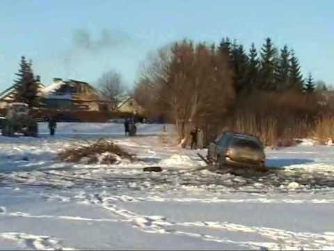 Džipas įlūžęs ant ledo (Alytaus rajonas, Daugai)2009 01 08