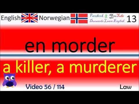 56 Law / Lov Norsk - Engelske Ord / Norwegian - English Words / Engelsk Ord