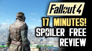 Fallout 4 REVIEW of Gameplay Features!  SPOILER FREE Walkthrough of Features!