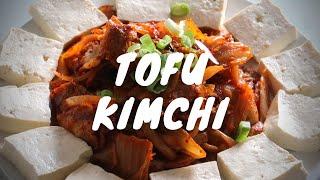 Cheating Korean recipe, Tofukimchi (Fried Kimchi and pork belly with Tofu)
