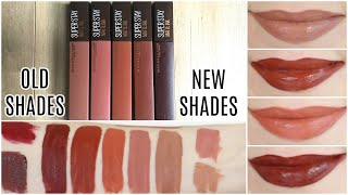 Maybelline SuperStay Matte Ink Liquid Lipsticks Coffee Edition || Lip Swatches & Review
