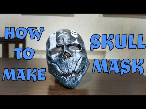 DIY HOW TO MAKE SKULL MASK  FROM PAPER FROM PAPIER MACHE