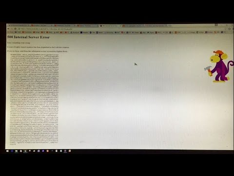 500 Internal Server Error | Highly Trained Monkeys Error Message