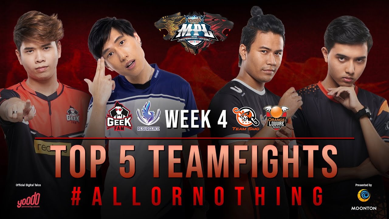 TOP 5 TEAM FIGHTS | WEEK 4 | MPL MYSG S6