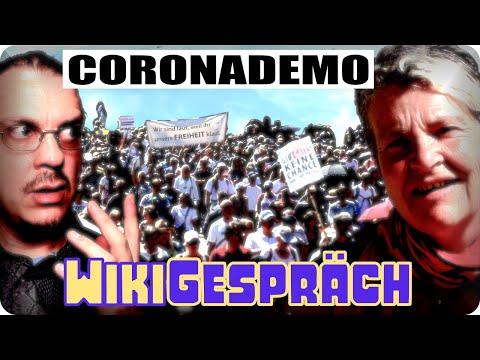 Coronademo mit Andrea Drescher- mein WikiGespräch #42