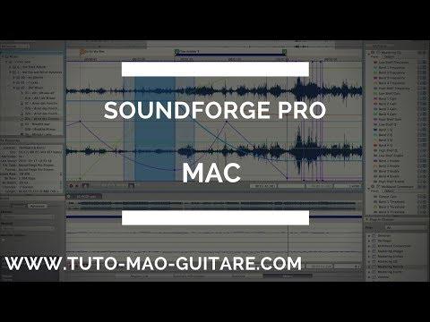 Tuto Soundforge Pro Mac GRATUIT et Complet