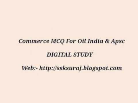 Commerce MCQ For Oil India & APSC