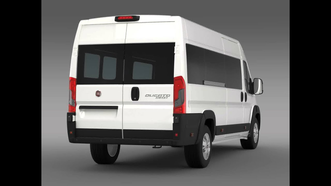 3d model of fiat ducato maxi minibus 2014 youtube. Black Bedroom Furniture Sets. Home Design Ideas