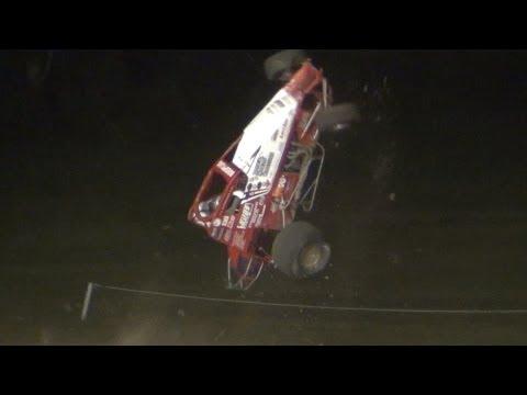 Chad Boespflug Crash Gas City Speedway 8-16-13