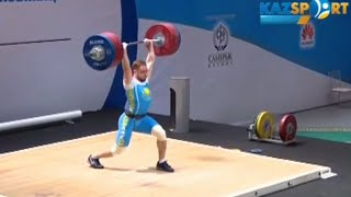 2016 Kazakh Weightlifting Championships, Men 94 kg \ Тяжелая Атлетика. Чемпионат Казахстана(Денис Уланов ауыр атлетикадан ерлер мен казакстан чемпионаты., 2016-06-07T09:02:21.000Z)