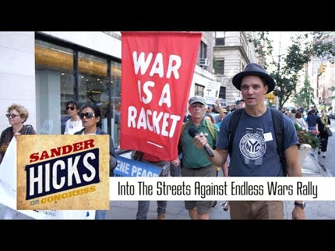 "Sander Hicks at the ""Into The Streets Against Endless Wars"" Rally"