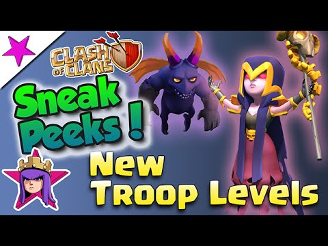 NEW! Sneak Peek! Minion Level 7 & Witch Level 3! Clash Of Clans