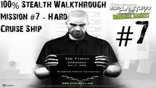 Splinter Cell Double Agent - 100% Stealth Walkthrough - Hard - Part 7 - Cruise Ship