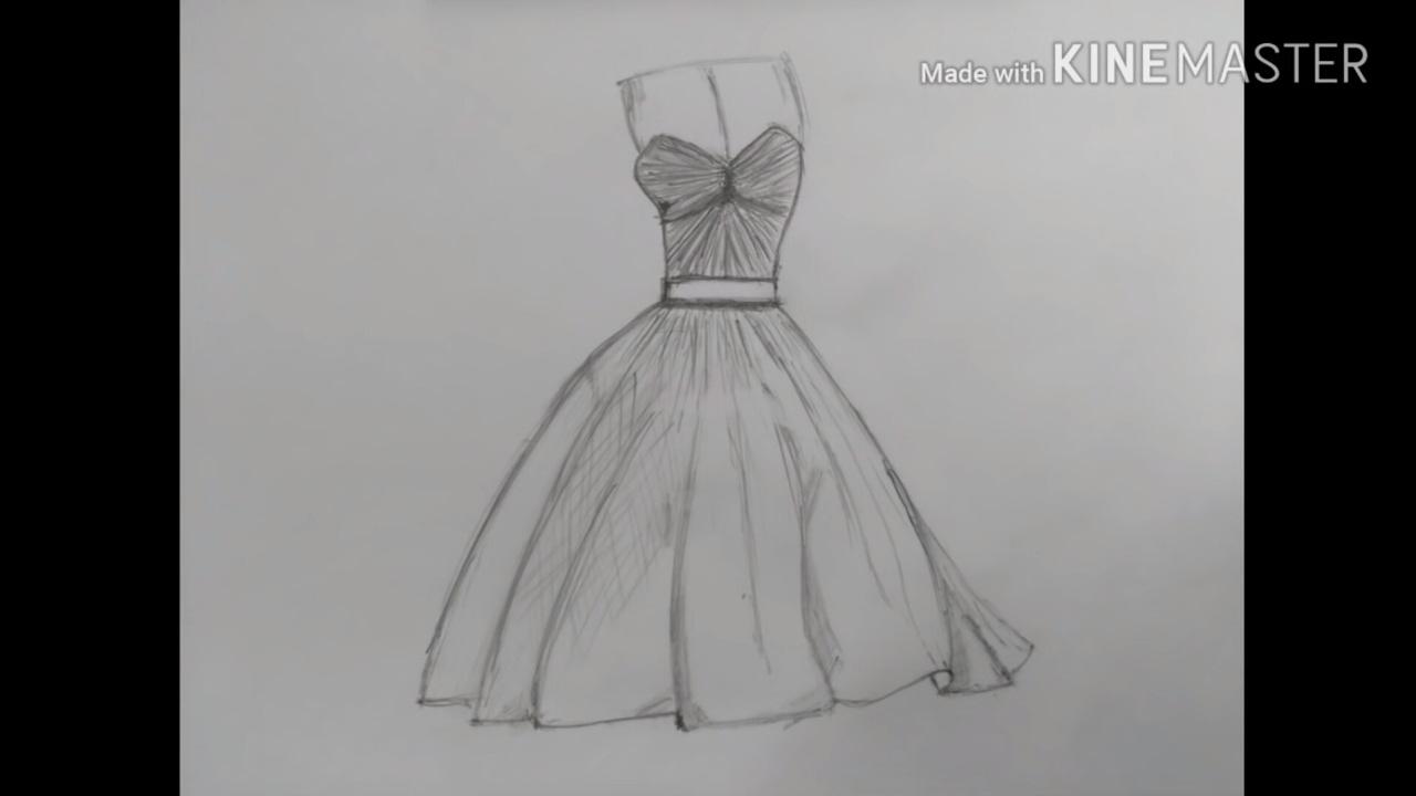 تعلم رسم فستان بخطوات سهله وبسيطه لا تنسو الاشتراك بقناتي