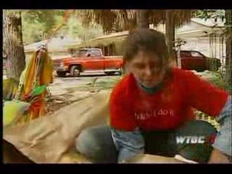 Crazy acid throwing woman