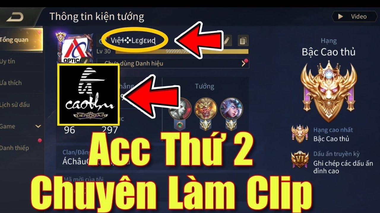 [Gcaothu] Review cận cảnh ACC thứ 2 Gcaothu chuyên dùng làm clip – Acc Youtuber có những gì?