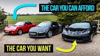 homepage tile video photo for £2000 MR2 Vs £35,000 R8 Vs £100,000 Stingray C8