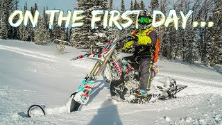 HE BLEW UP HIS SNOWBIKE!!