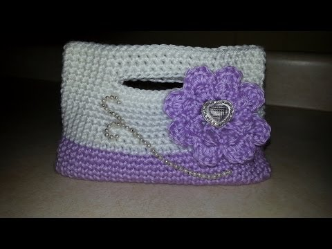 CROCHET RUFFLE PURSE TUTORIAL ? Only New Crochet Patterns