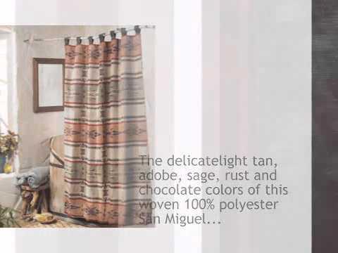 San Miguel Shower Curtain - lonestarwesterndecor.com